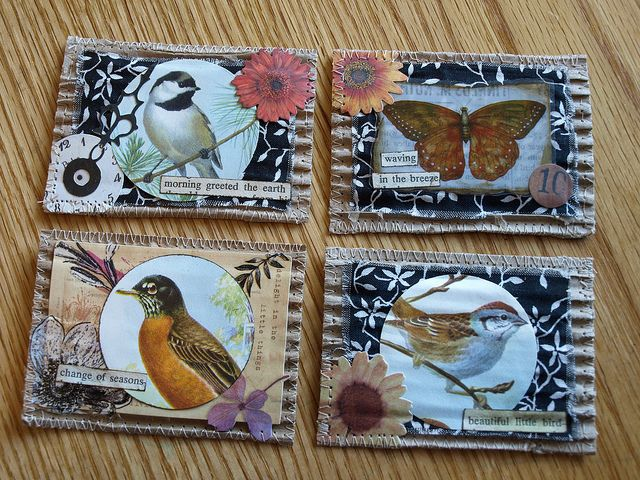 ATCs~Birds and Butterflies | traded | By: Shanda Panda | Flickr - Photo Sharing!