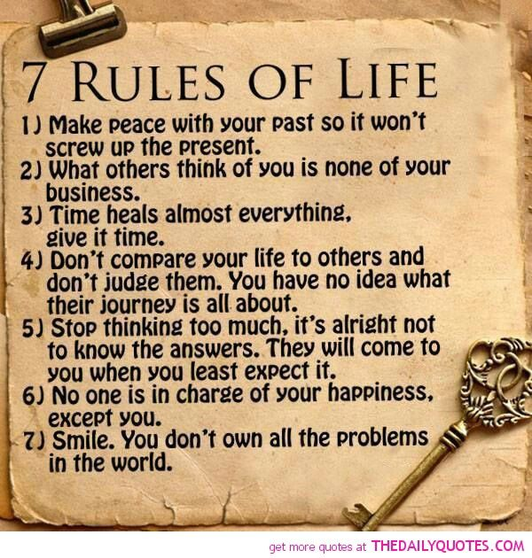60 Rules Of Life Quotes Pinterest Enchanting 7 Rules Of Life Quote