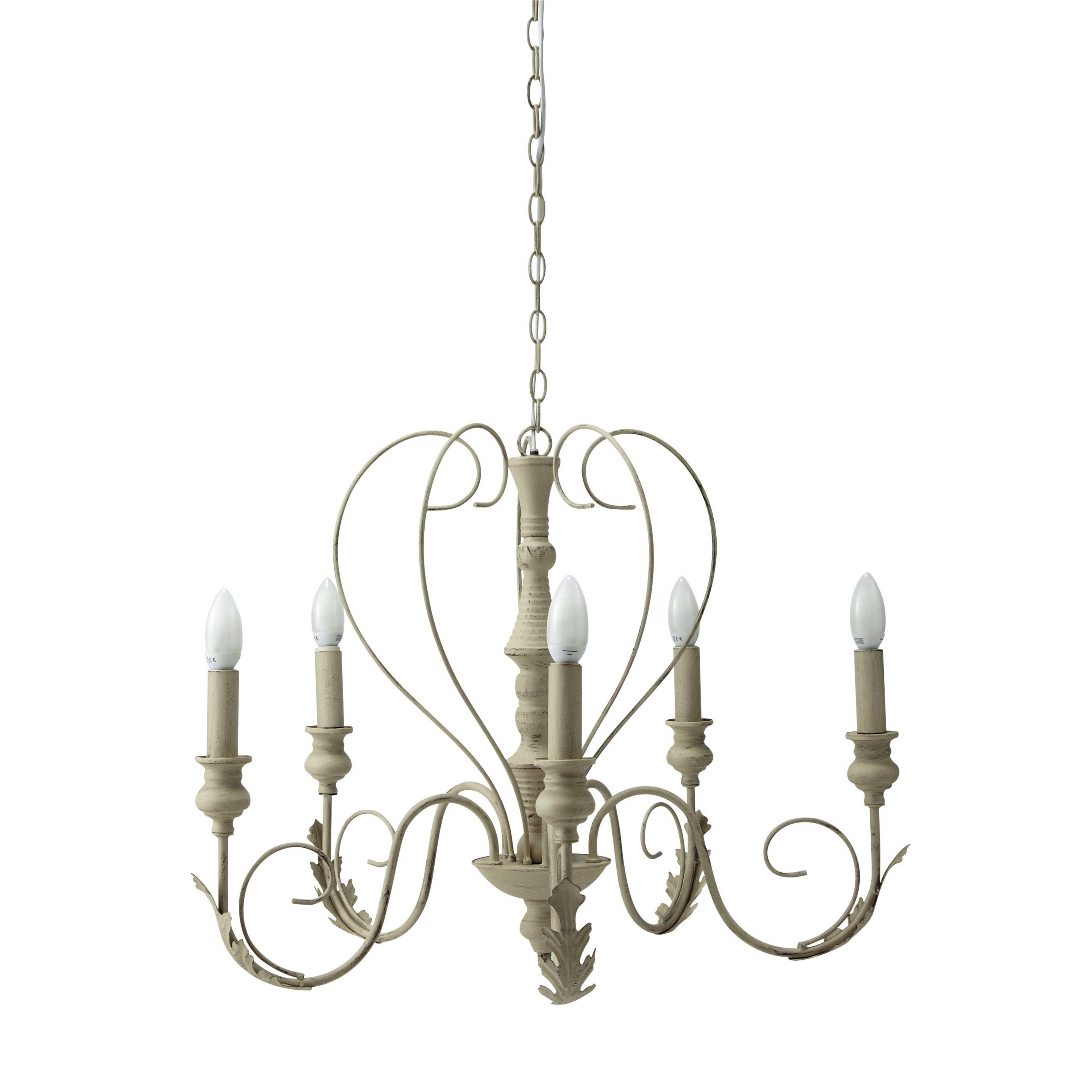 Colori e materiali dei lampadari shabby; Lampadario In Metallo Beige 63 Cm Maisons Du Monde Lampadario Illuminazione Soffitto Lampadari