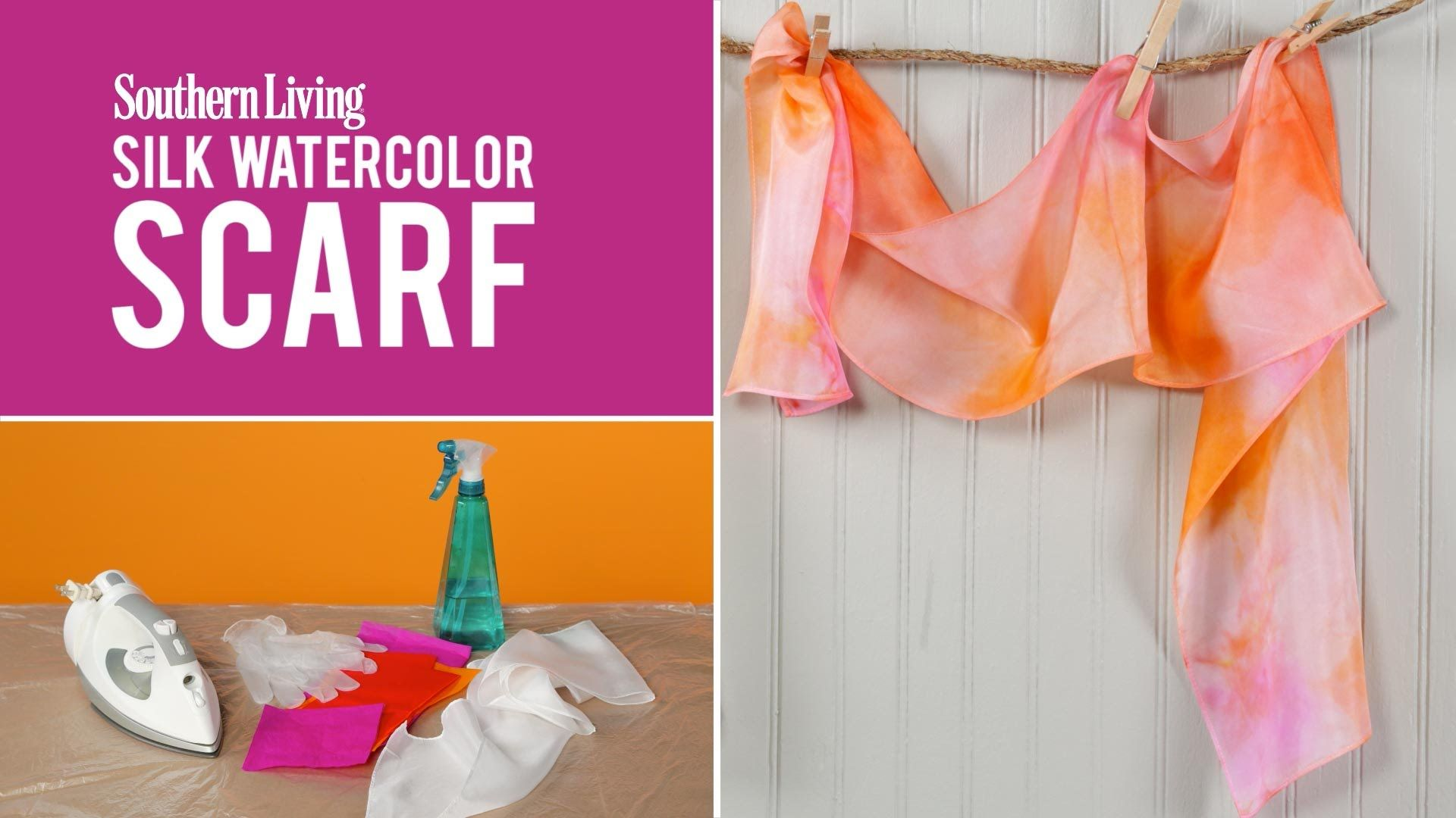 How To Make A Silk Watercolor Scarf