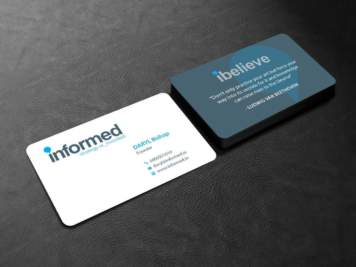 105 Modern Business Card Designs Information Technology Business Card Design Project For A Business In Australia Modern Business Cards Modern Business Cards Design Business Cards