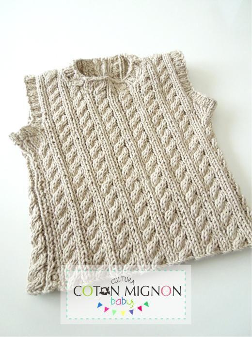 Chaleco de hilo con trenzas culturacotonmignon | crochet y ganchillo ...
