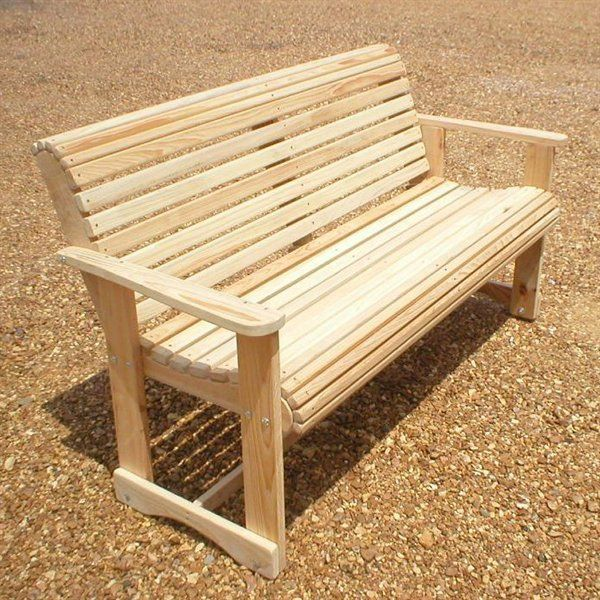 La Cypress Swings Crb4 Roll Bench Wooden Bench Outdoor Outdoor Furniture Plans Bench Furniture
