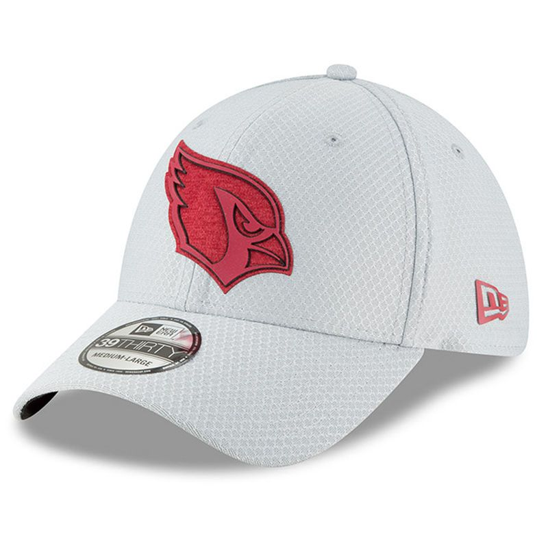 f2e626a6c29 Mens New Era Arizona Cardinals 2018 NFL Gray Training Camp Official 39THIRTY  Flex Hat