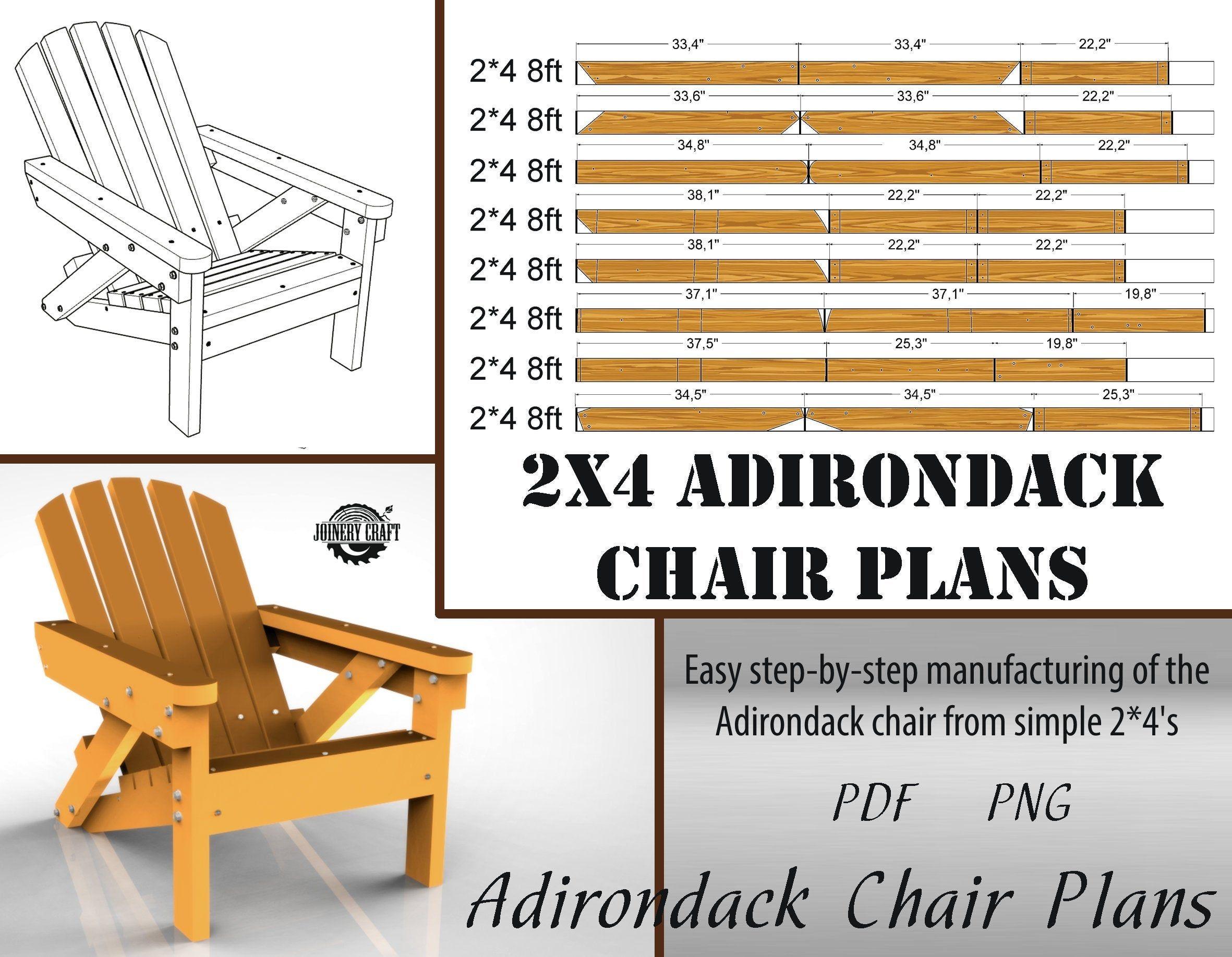 DIY 2x4 Adirondack Chair PlansPatio furniture