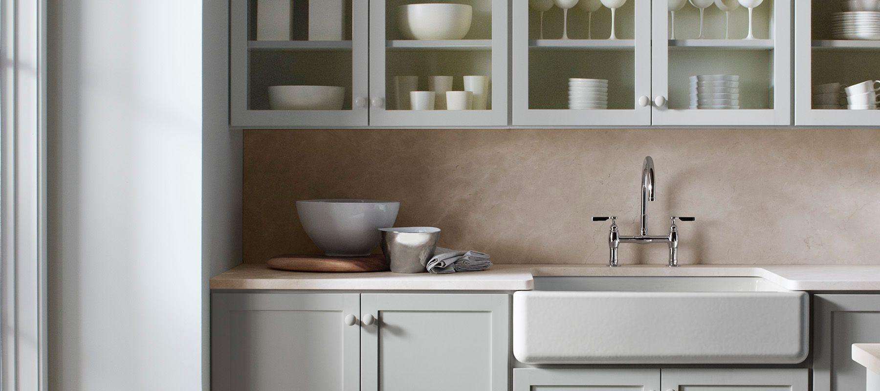 KOHLER Enameled Cast Iron Undermount Solid Surface White Kitchen ...