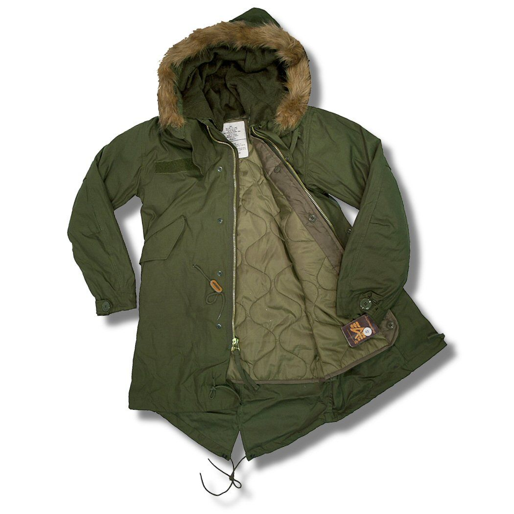 Alpha Industries Mod 60's Fur Hood Military M65 Fishtail Parka ...