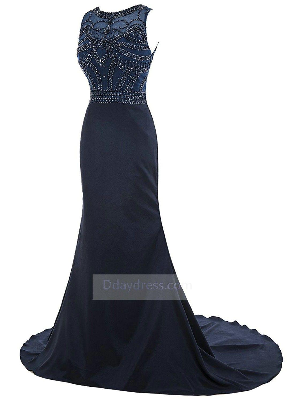 Bluhing pink scoop mermaid dress chiffon long evening prom dress