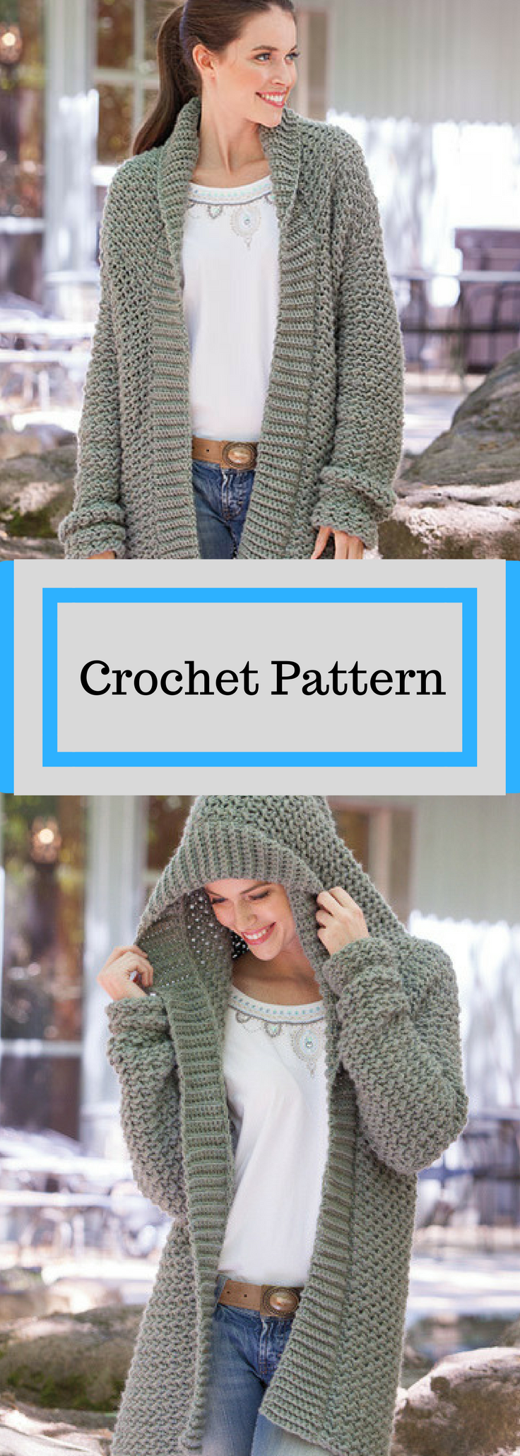 Weekend Casual Hooded Sweater Crochet Pattern Available for ...