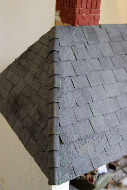 how to roof slates Gaming terrain Pinterest Miniature, Toit