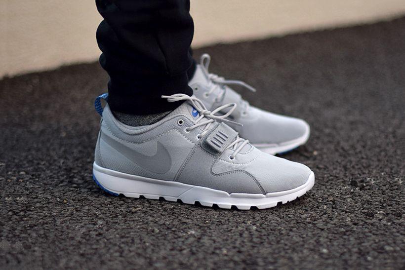 Nike Sb Trainerendor Mens Grey Blue Sneakers