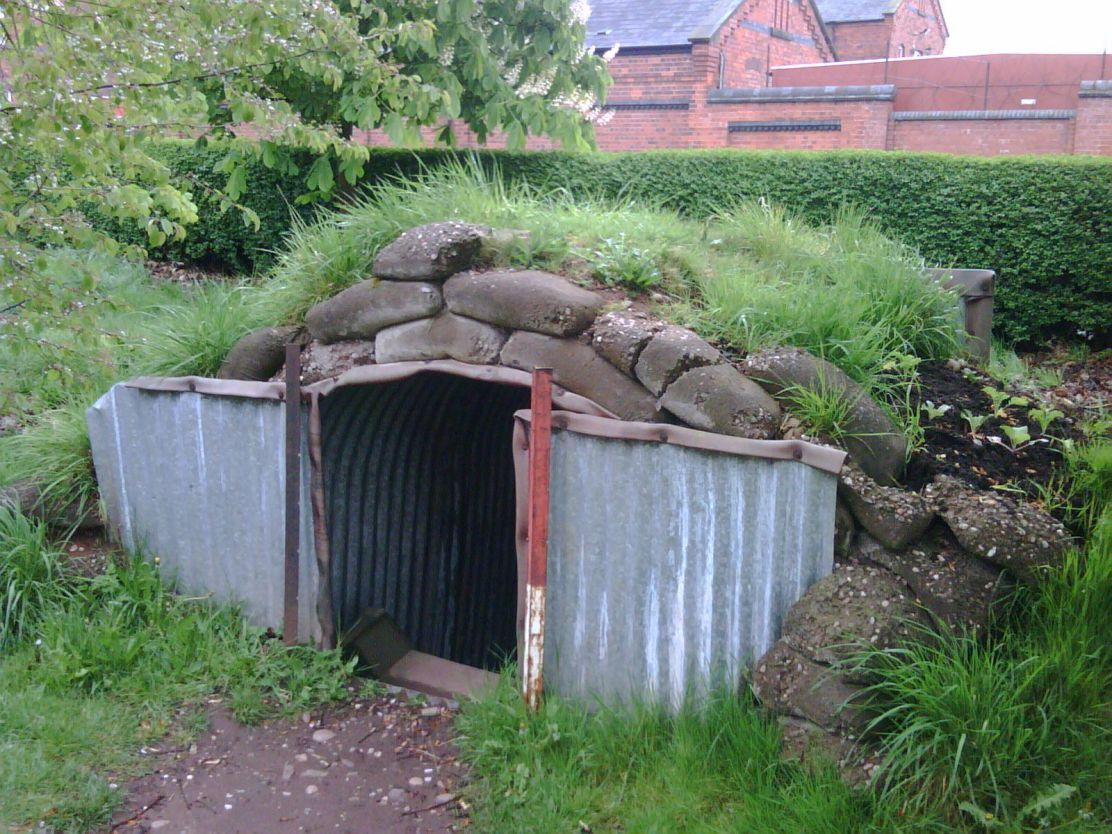 Image result for anderson shelters ww2