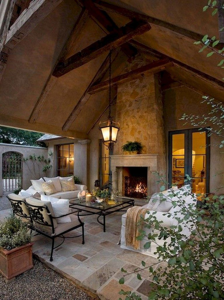 45+ Awesome Outdoor Living Space Design For Comfortable ... on Farmhouse Outdoor Living Space id=28143