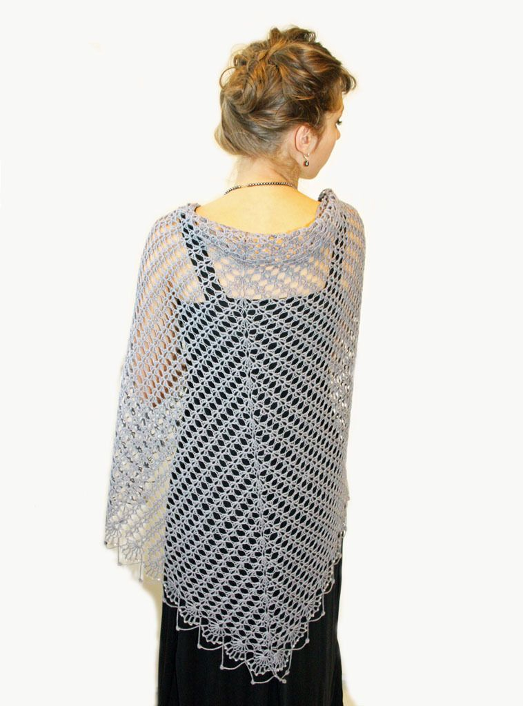 Wrapped_in_lace_shawl_patternfish_2   Örgü   Pinterest   Chal