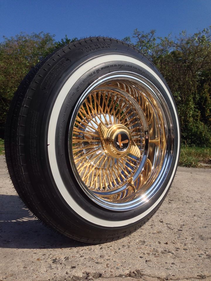 520 Premium Sportway Wrapped Around Prestamped Gold Spoke Daytons