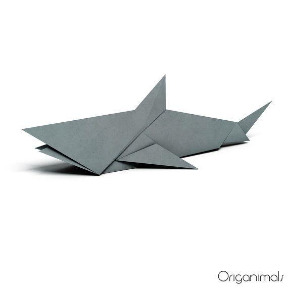 Origami Shark Neat Items Pinterest Shark Origami And Crafty