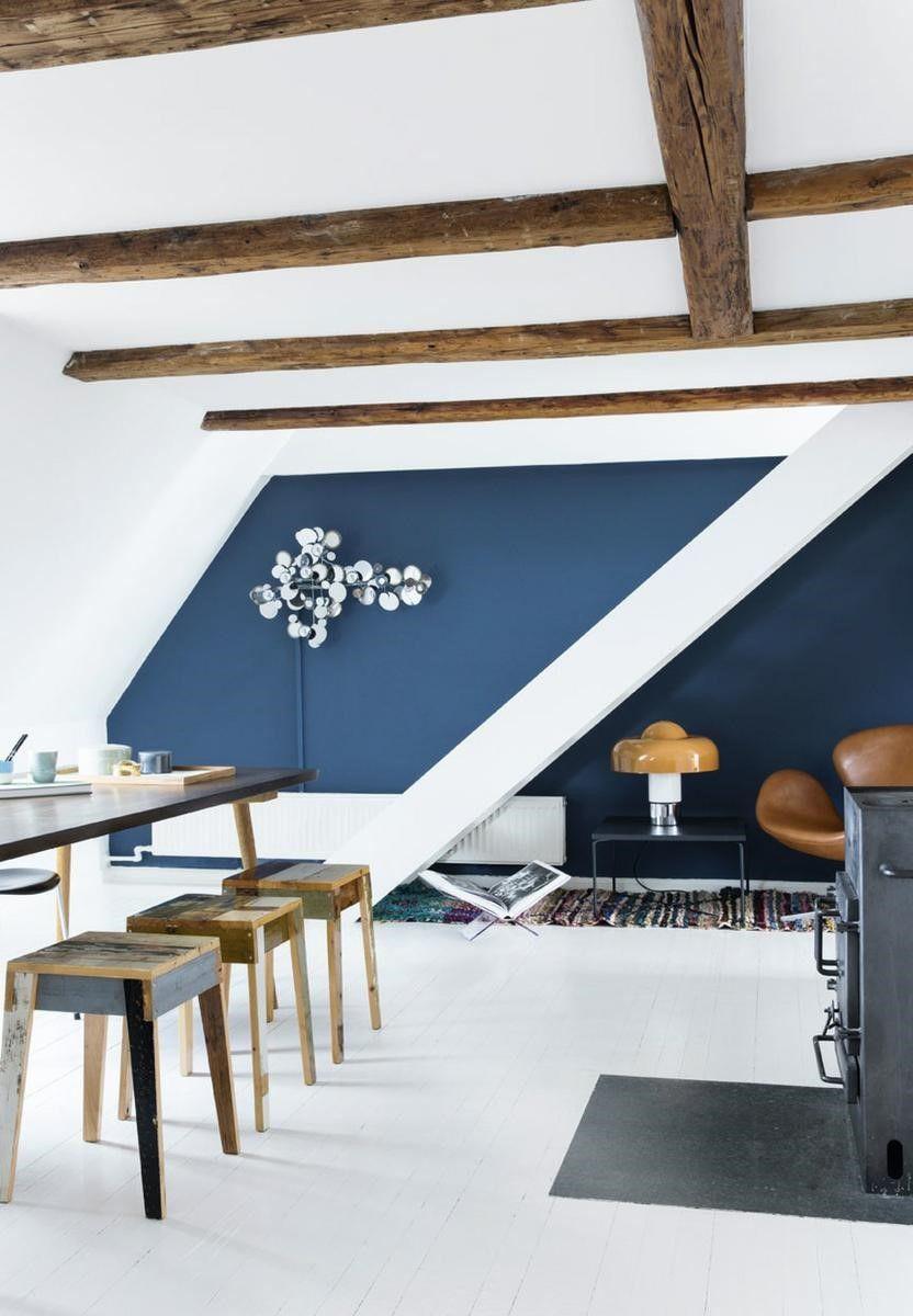 Mur De Couleur En Deco Bleu Outremer Pour Votre Salle A