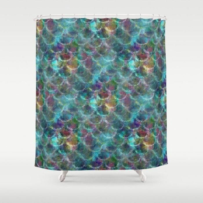 Mermaid Bathroom, Shower Curtain 71x74 71x94 #mermaidbathroomdecor