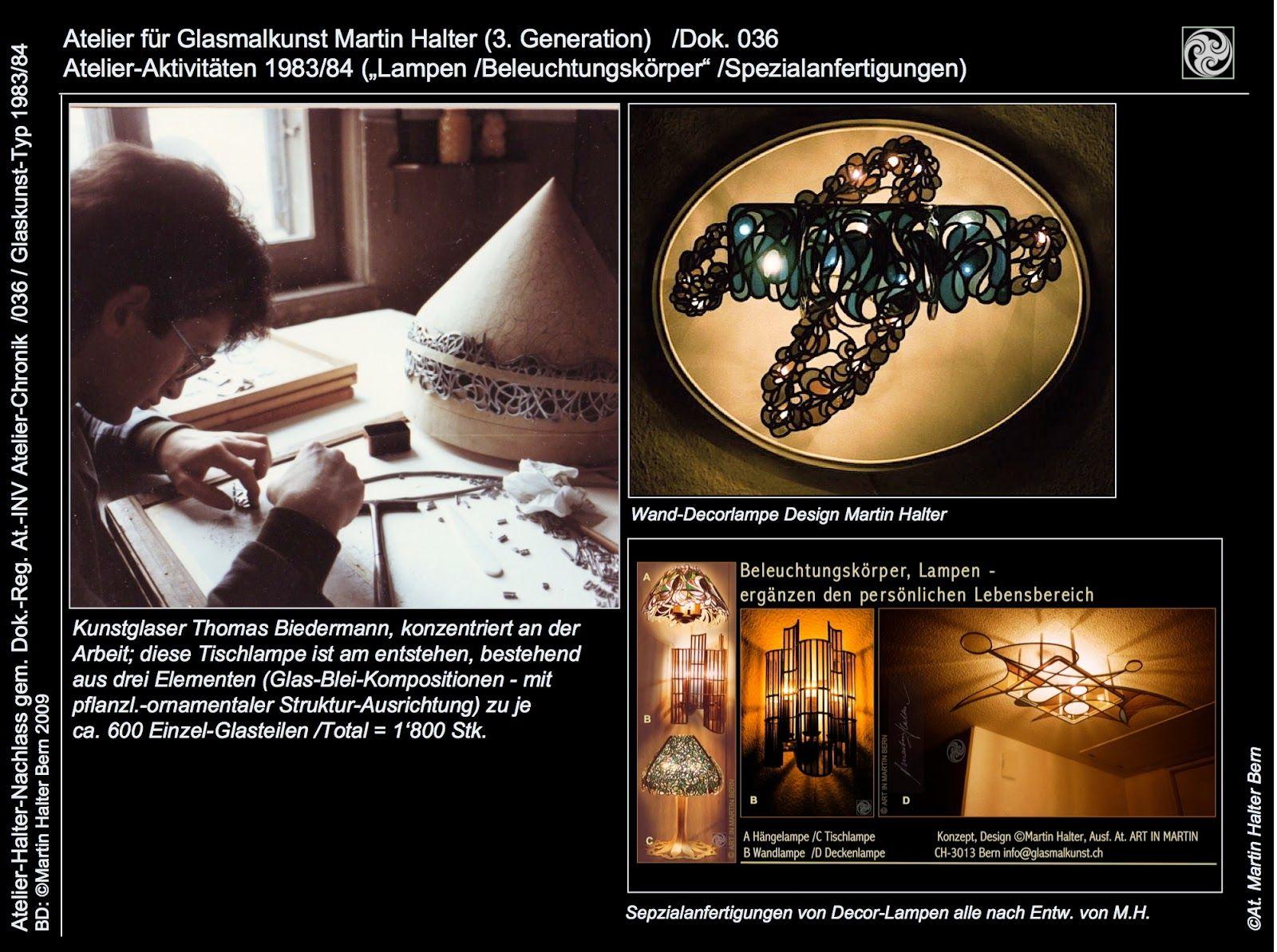 Lampen-Design mit Glaskunst-Inszenierung