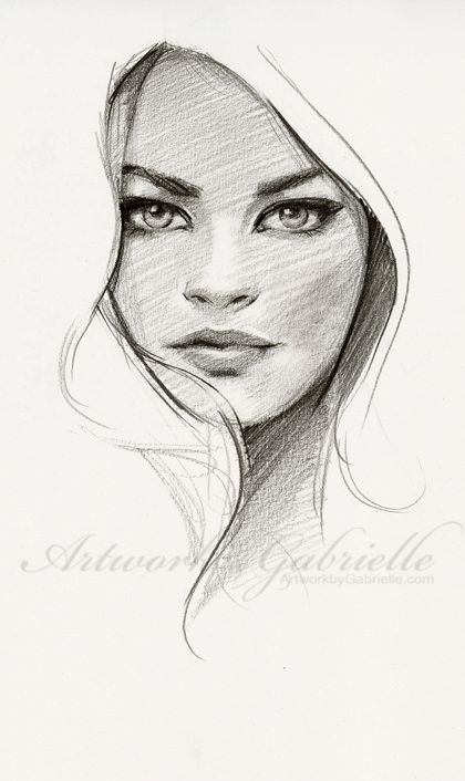 Pencil Sketches Of Female Faces