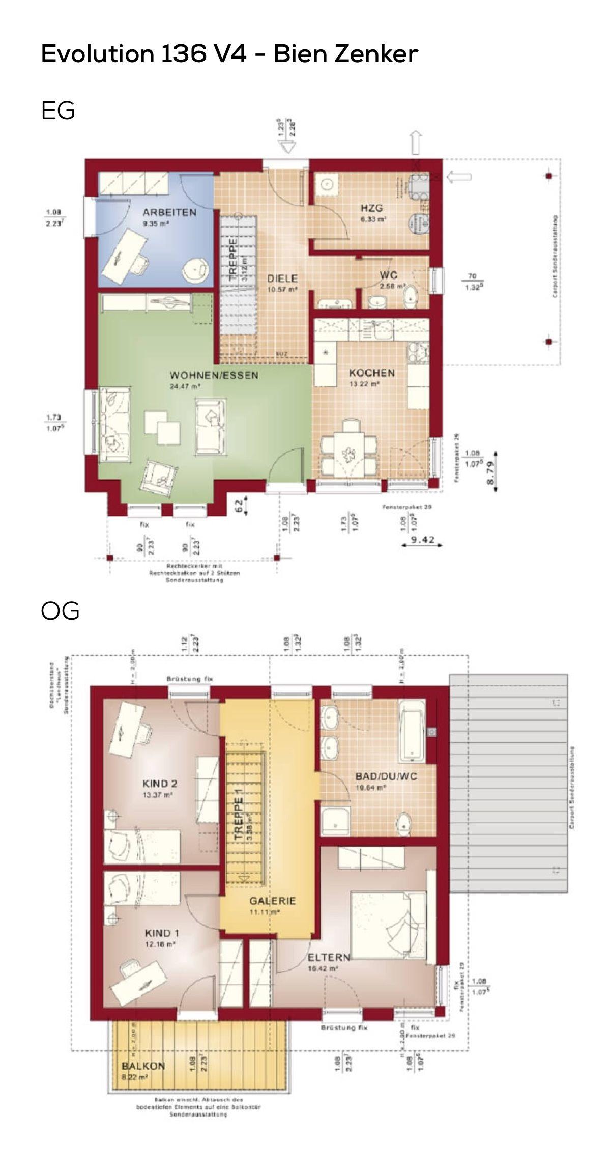 Grundrisse Einfamilienhaus mit Galerie & Satteldach 5