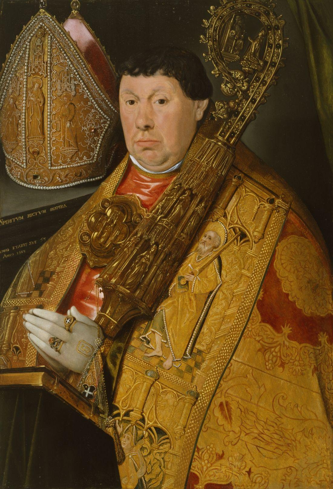 Poindre de Jacques (fl. Circa 1540-1570)   Ritratto dell'abate Nicholas à Spira è   la Walters