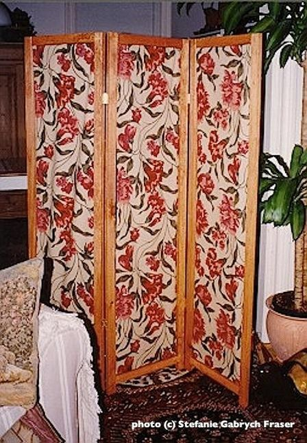 How To Make A Folding Room Divider With Removable Fabric Panels Stefanie Gabrych Fraser Fabric Room Dividers Room Divider Screen Room Divider Screen Diy