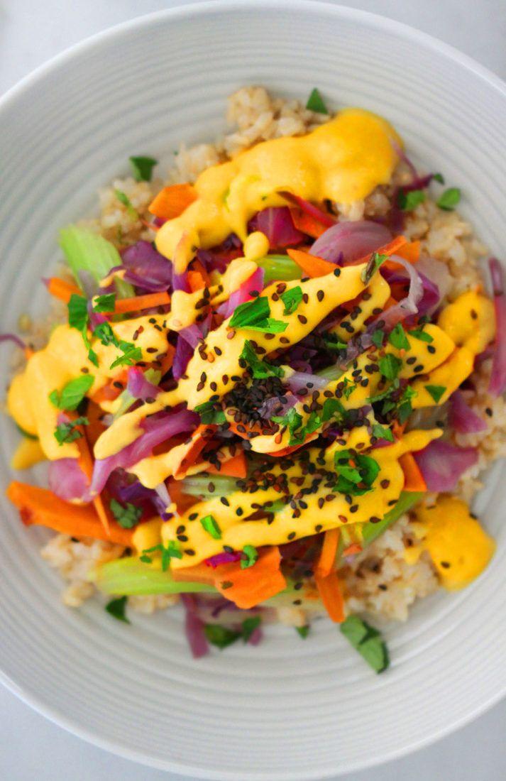 Photo of Vegetable Stir-Fry with Mango Sesame Sauce Recipe