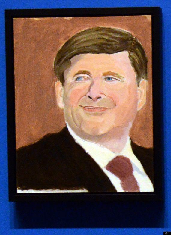 Portrait of Stephen Harper by George W. Bush