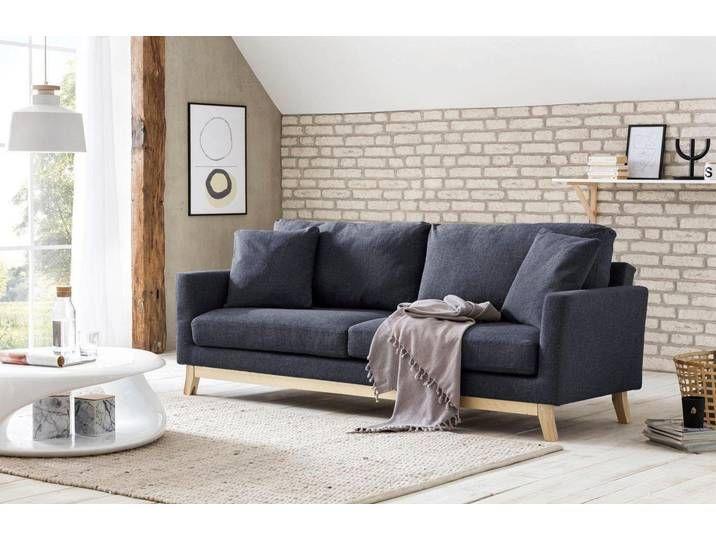Salesfever Schlafsofa Inklusive Kissen Grau Sofa Furniture Home Decor