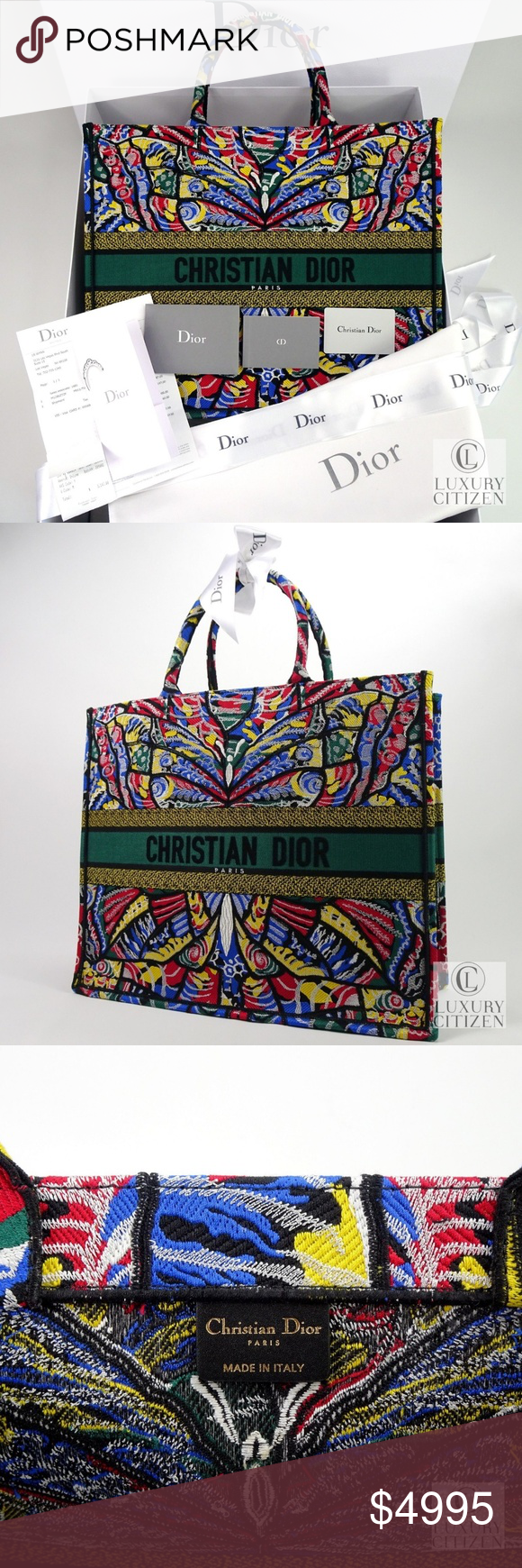 2d48136ffcbb20 NEW DIOR BOOK TOTE EMBROIDERED BUTTERFLY Limited I can sell this bag for  $3995 if dealing