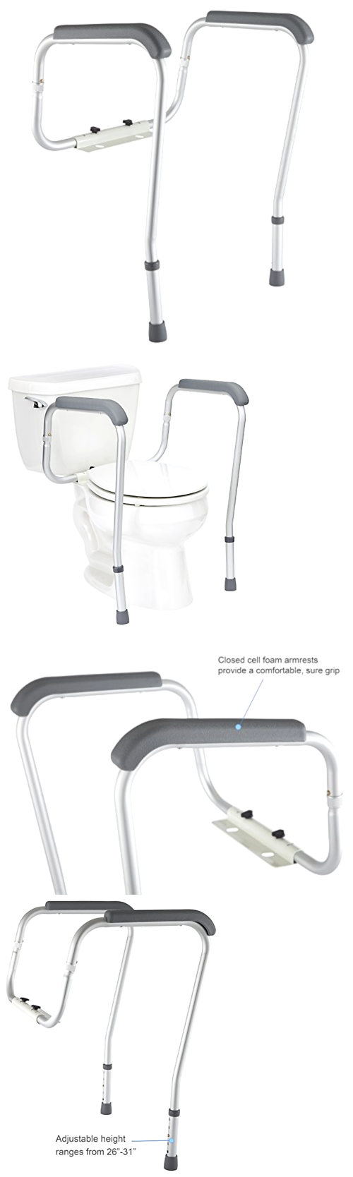 Handles and Rails: Grab Bars Adjustable Toilet Safety Rail ...