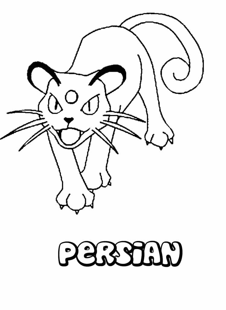 pokemon persian coloring page