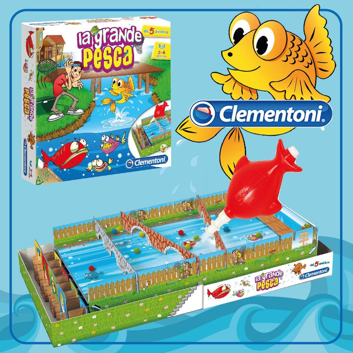 La Grande Pesca. Un gioco da tavolo molto divertente per i piccoli pescatori. Vince chi cattura più palline! #giochi #giochidisocieta #toys #giochidatavolo by #clementoni #giochiclementoni
