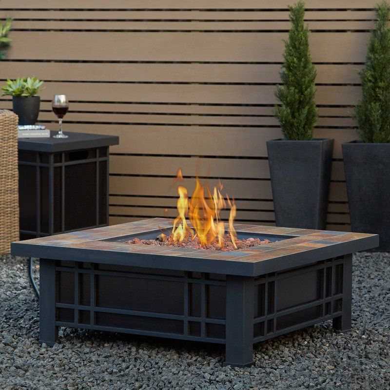 We Said We Want A Woodburning Fire Pit But This Craftsmaninspired - Black propane fire pit table