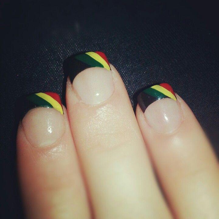 Rasta nails | Wildathrt8 | Pinterest | Rasta nails, Makeup and Nail nail