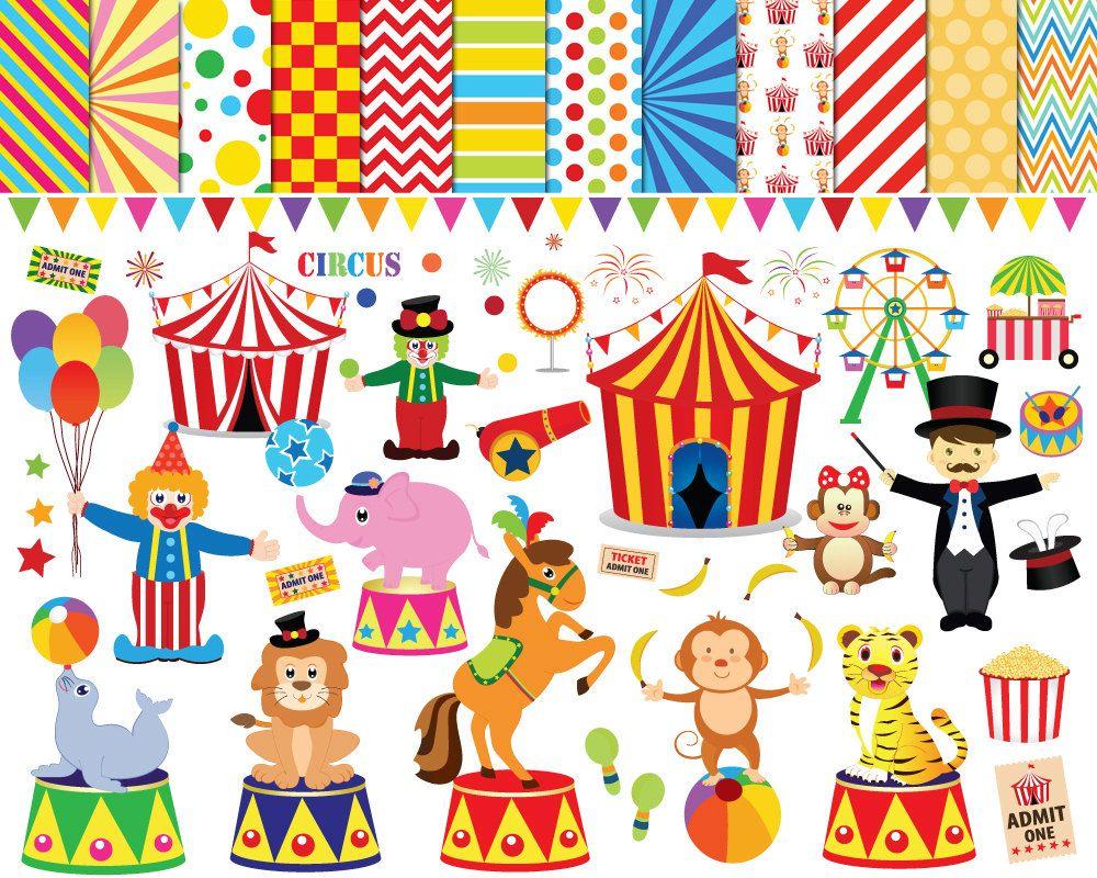 56 Circus Clipart Clip Art clowns Printable
