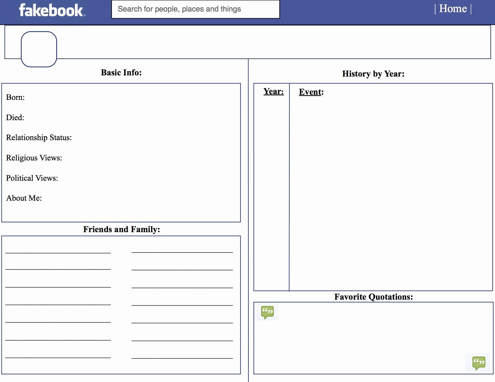 Facebook Template For Students New Template For Teachers Facebook Templates Templates Teachers