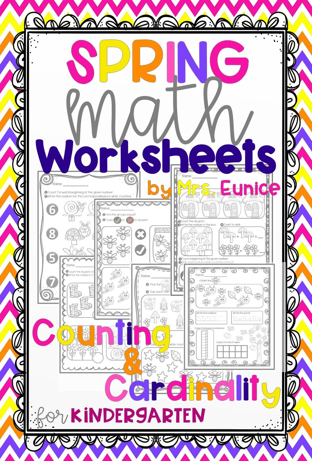 Spring Math Worksheets For Kindergarten Counting And Cardinality Spring Math Worksheets Kindergarten Math Worksheets Math Worksheets [ 1488 x 1008 Pixel ]