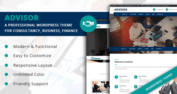 Advisor - A Professional WordPress Theme for Consultancy, Business ...