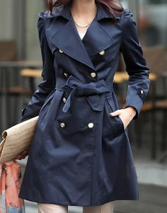 Women elegant Trench Coat | coats | Pinterest | Best Trench ...