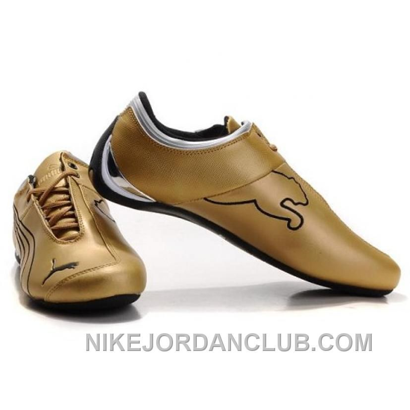Men's Puma 10th Anniversary Metal Racing Shoes Golden For Sale