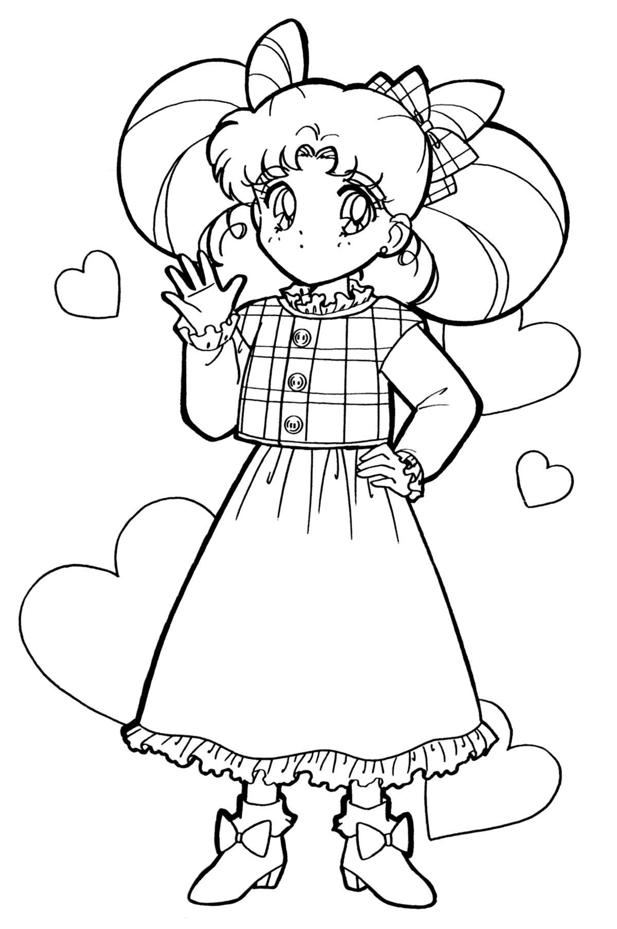 sailor chibi moon | Colouring pages | Pinterest | Sailor chibi moon