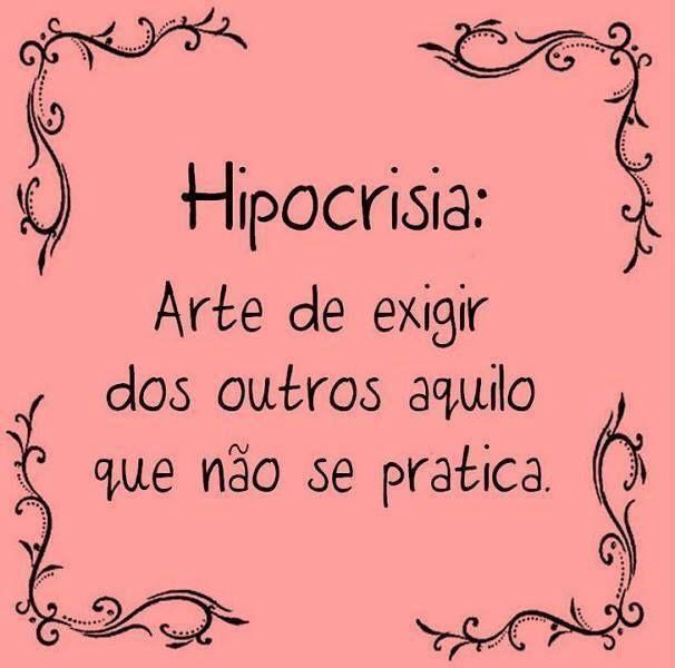 Hipocrisia...