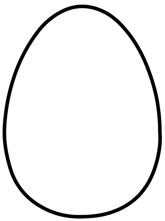 Handy image within easter egg template free printable
