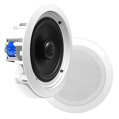 8 Ceiling Wall Mount Speakers Pair Of 2 Way Midbass Woofer Speaker 70v Transformer Directable 1 Titanium D Ceiling Speakers In Wall Speakers Woofer Speaker