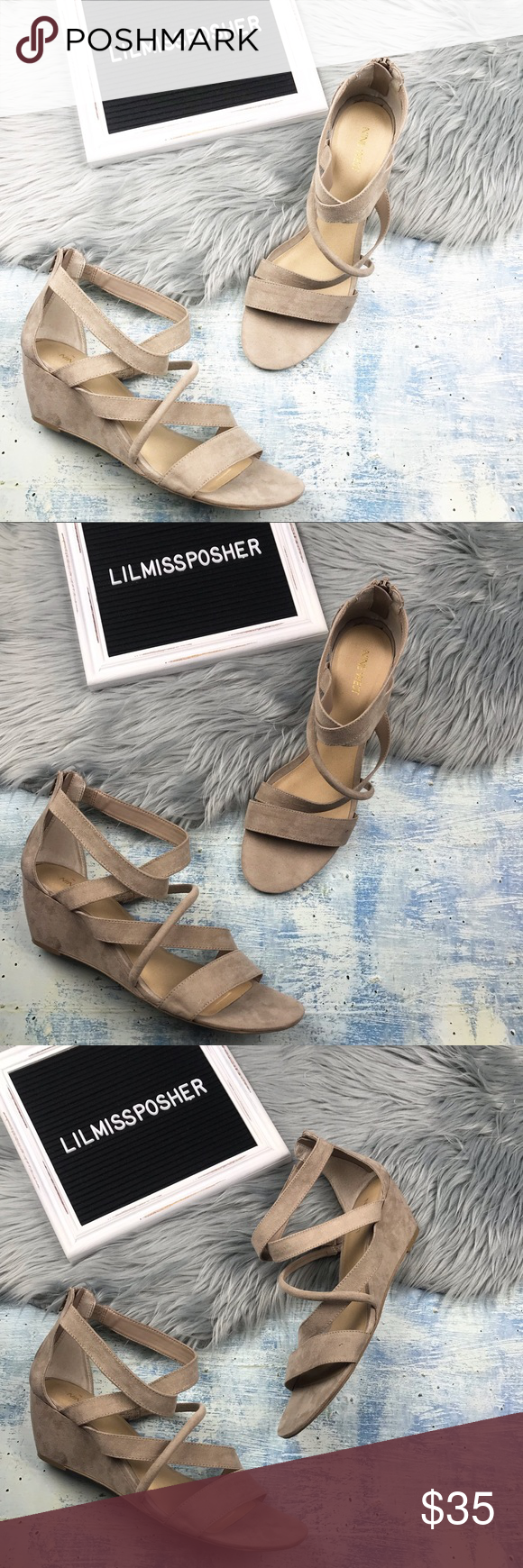 NINE WEST Women's Nude Wedge Sandals Size 12 Women's Nine West Nude low wedge sandals  Size 12 No rips or stains, overall in great pre owned condition   ▪️back zip closure   Inventory location: D Nine West Shoes Sandals #lowwedgesandals NINE WEST Women's Nude Wedge Sandals Size 12 Women's Nine West Nude low wedge sandals  Size 12 No rips or stains, overall in great pre owned condition   ▪️back zip closure   Inventory location: D Nine West Shoes Sandals #lowwedgesandals