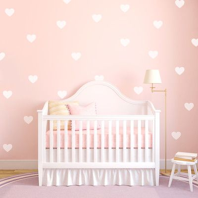 Wallums Wall Decor Hearts Desire Wall Decal Color: White