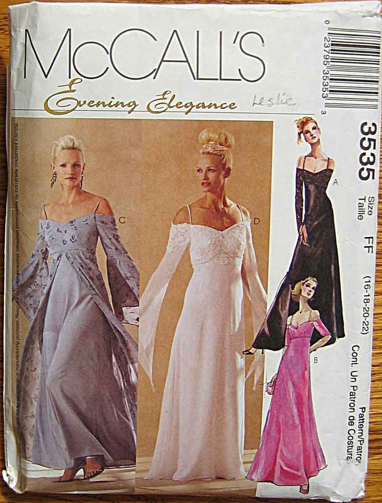 Misses Evening Dress Sewing Pattern Style 2004 Uncut  Sizes 6 to 16 Vintage Pattern