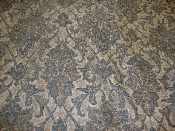 """Royalty Damask Chenille Upholstery Drapery fabric by the yard 57"""" Wide"""